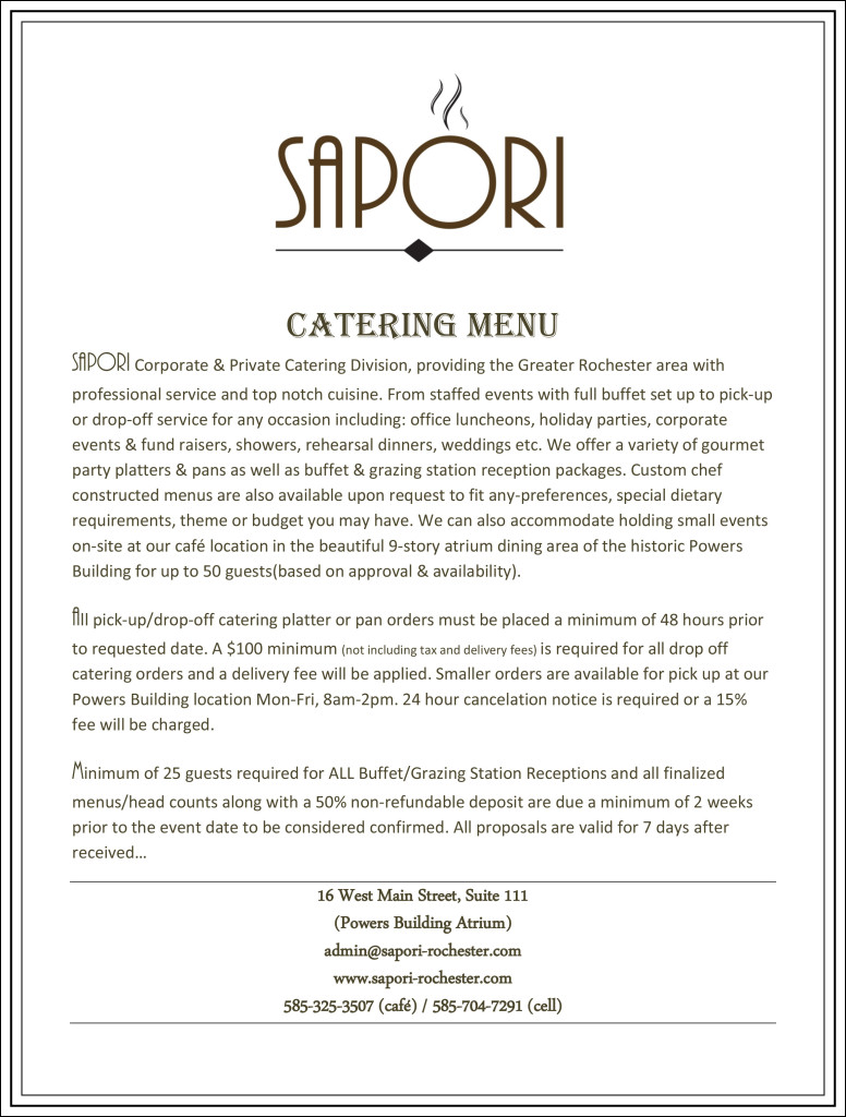 SAPORI Catering Menu-1